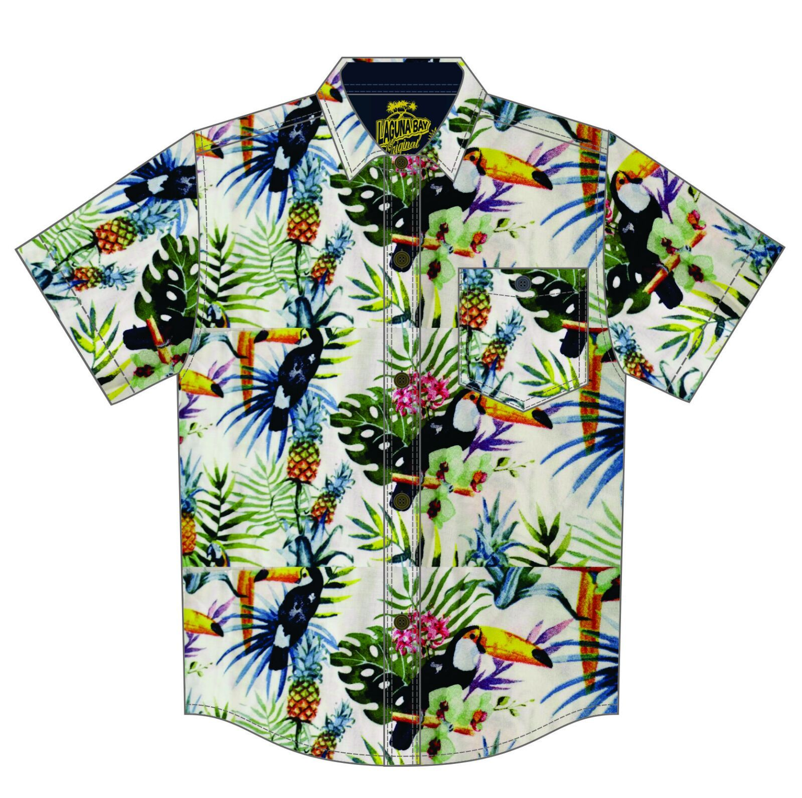 Laguna Bay Tropical Shirt - The White Toucan GROMS CLOTHING Laguna Bay