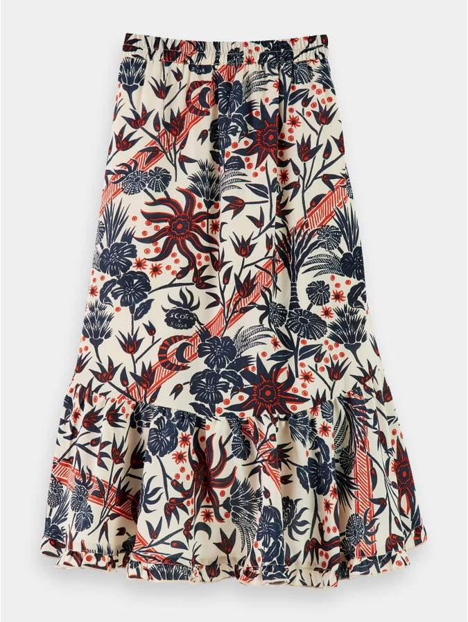 Maxi Length Skirt with All-Over Print GIRLS CLOTHING SCOTCH RBELLE