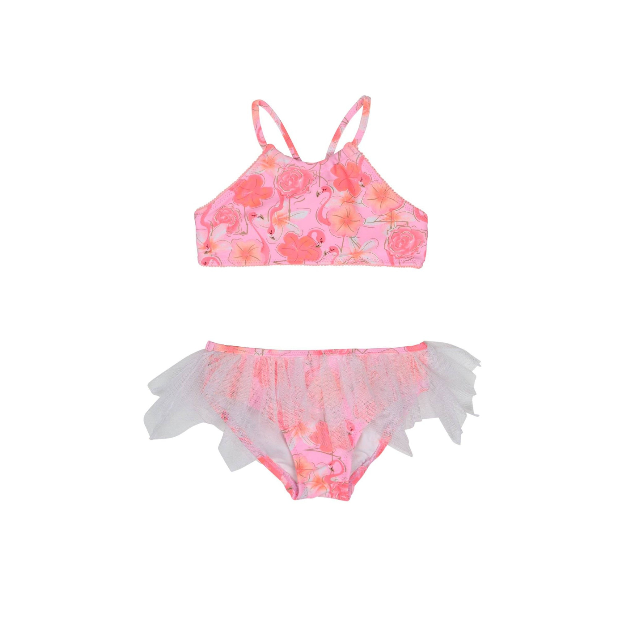 Miss Flamingo Tutu Bikini BABY SWIMWEAR SALTY INK 0 Flamingo