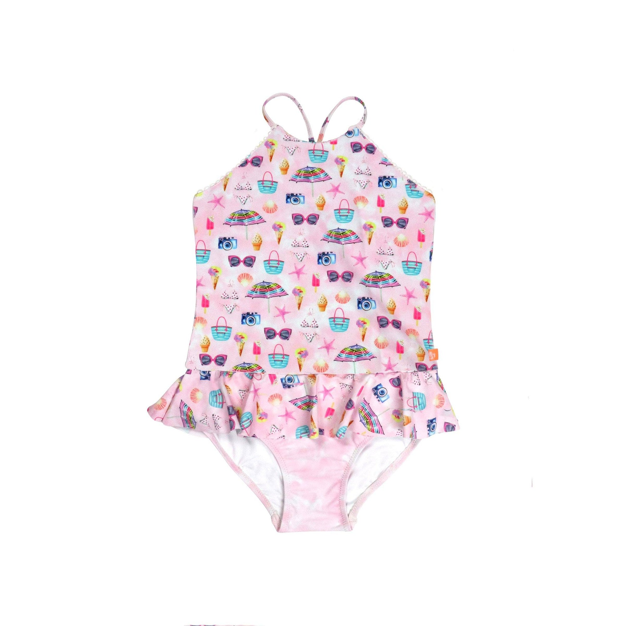 Miss Seaside One Piece LITTLE GIRLS SWIMWEAR SALTY INK