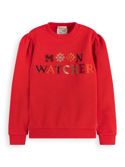 Moon Watcher Crewneck Sweater GIRLS CLOTHING SCOTCH RBELLE