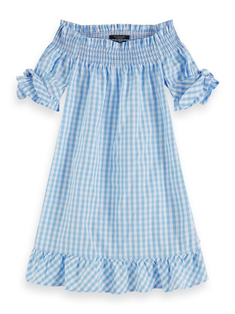 Off-Shoulder Crispy Cotton Dress GIRLS CLOTHING SCOTCH RBELLE