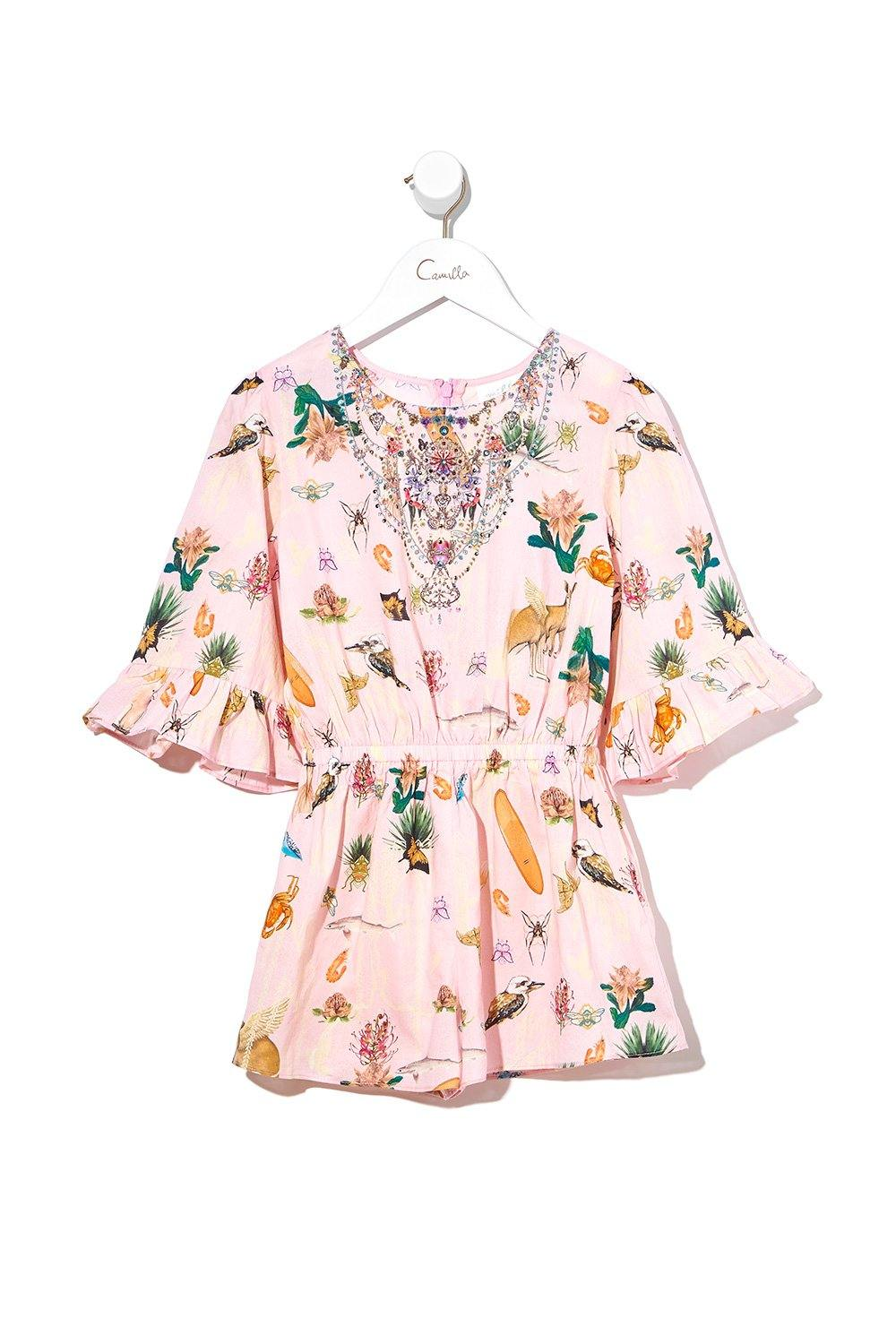 Over The Rainbow Infants Playsuit with Frill Sleeve LITTLE GIRLS CLOTHING CAMILLA