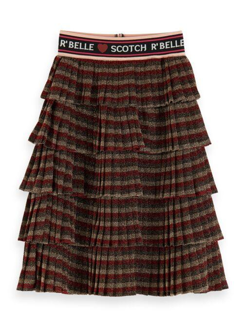 Shiny Layered Pleated Skirt GIRLS CLOTHING SCOTCH RBELLE