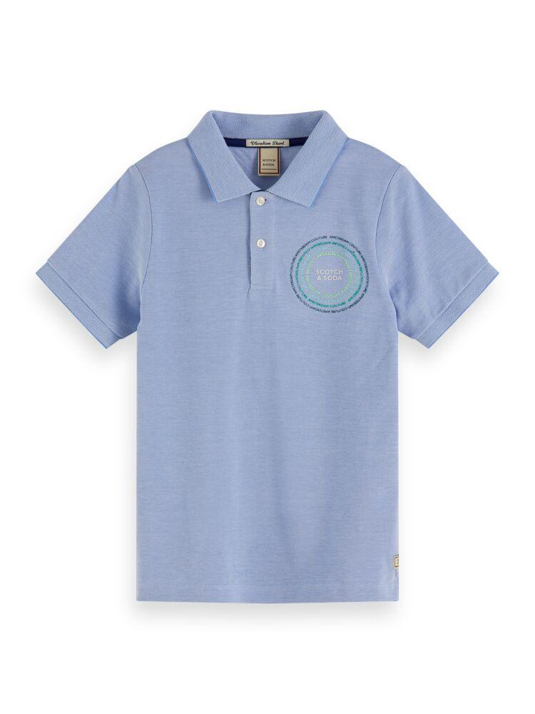 Short Sleeve Polo with Scotch Badge BOYS CLOTHING SCOTCH SHRUNK