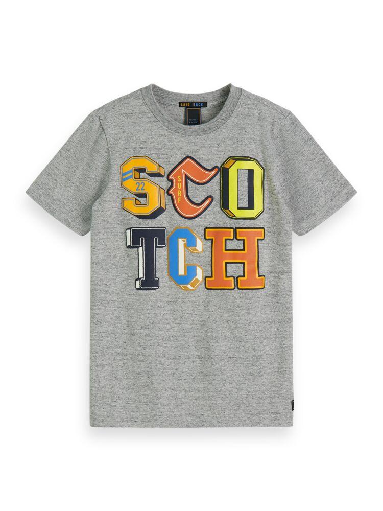 Tee with College Letter Artwork BOYS CLOTHING SCOTCH SHRUNK