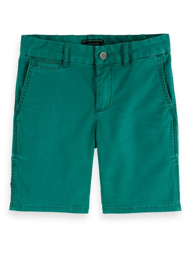 Washed Chino Shorts with Stretch BOYS CLOTHING SCOTCH SHRUNK