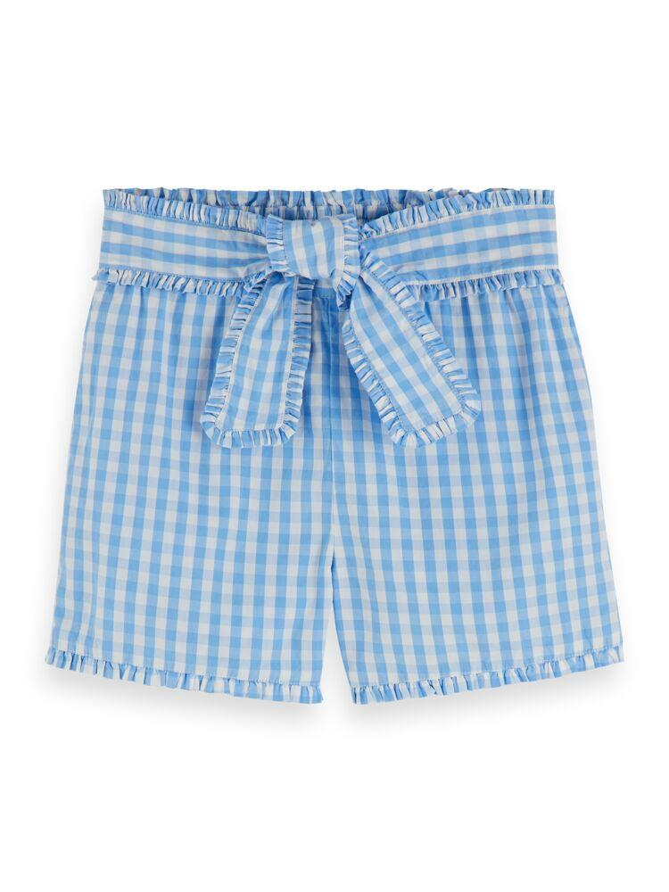 Yarn Dyed Check Cotton Shorts GIRLS CLOTHING SCOTCH RBELLE