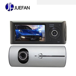 HD front and rear dual lens external GPS track driving recorder