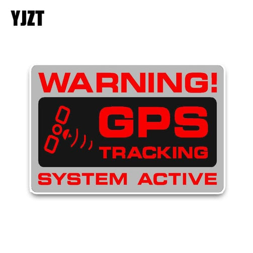 Car Sticker Warning GPS Tracking Police System Active Noticeable -