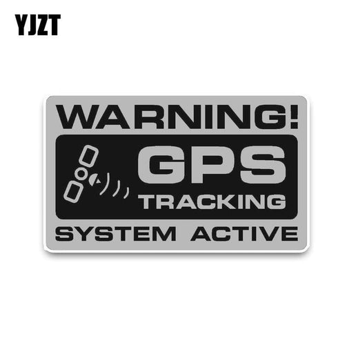 Sticker Warning GPS Noticeable Warning GPS Tracking System Active - Car Stickers