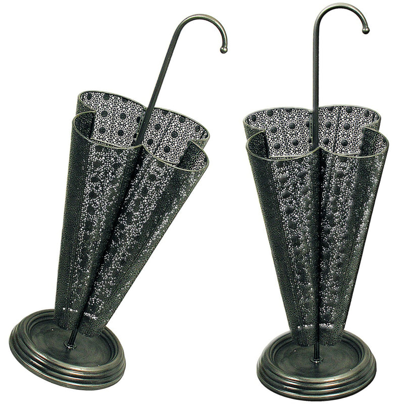 Grey Metal Umbrella Stand 37x37x89cm
