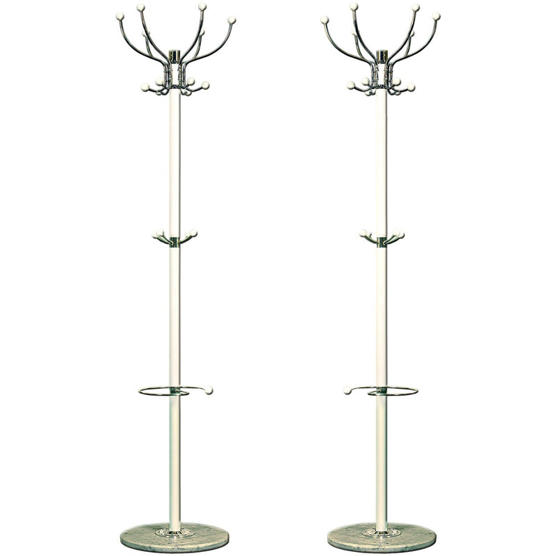 White Metal Coat Stand 137cm