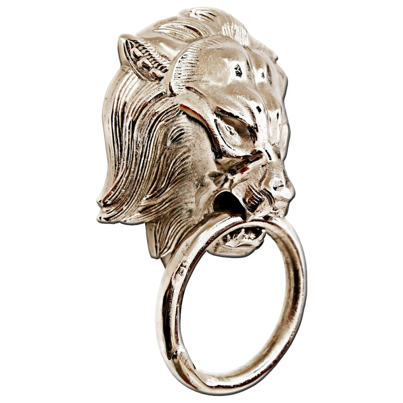 Aluminium Wall Hanging Lion Head with Ring