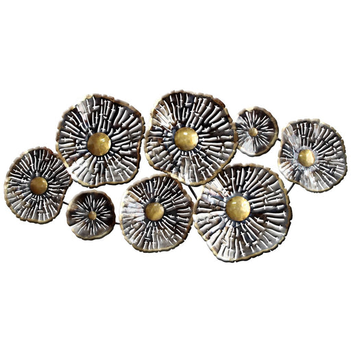 "Abstract Metal Wall Art ""Zander"" Lily Pads"