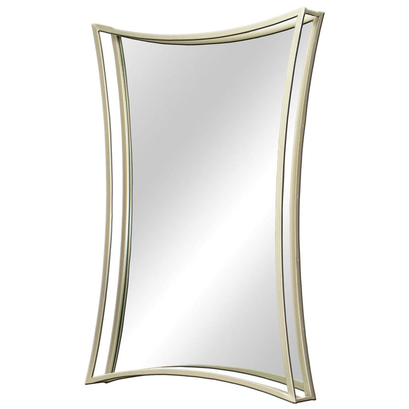 """Cristales"" Curved Metal Frame Contemporary Mirror"