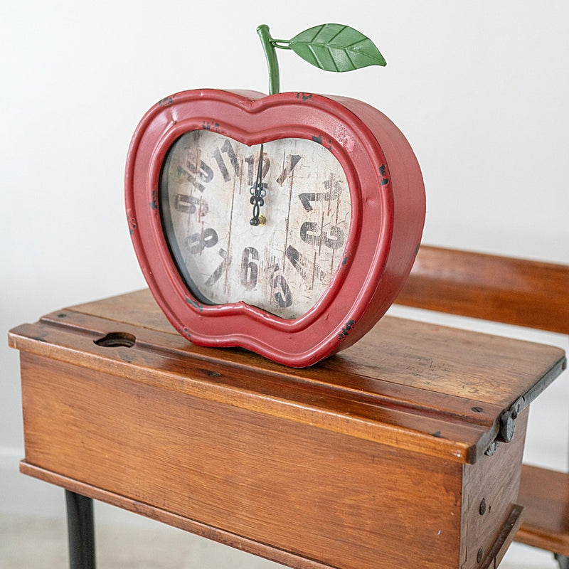 Red Apple Table Clock