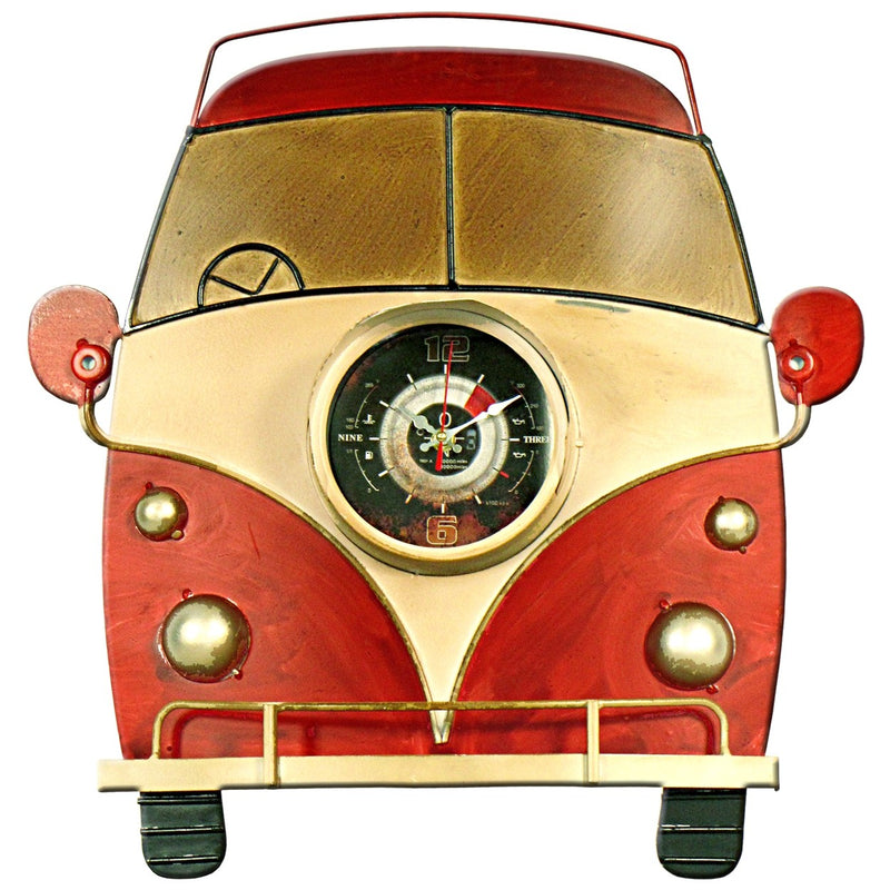 Red Bus Wall Clock