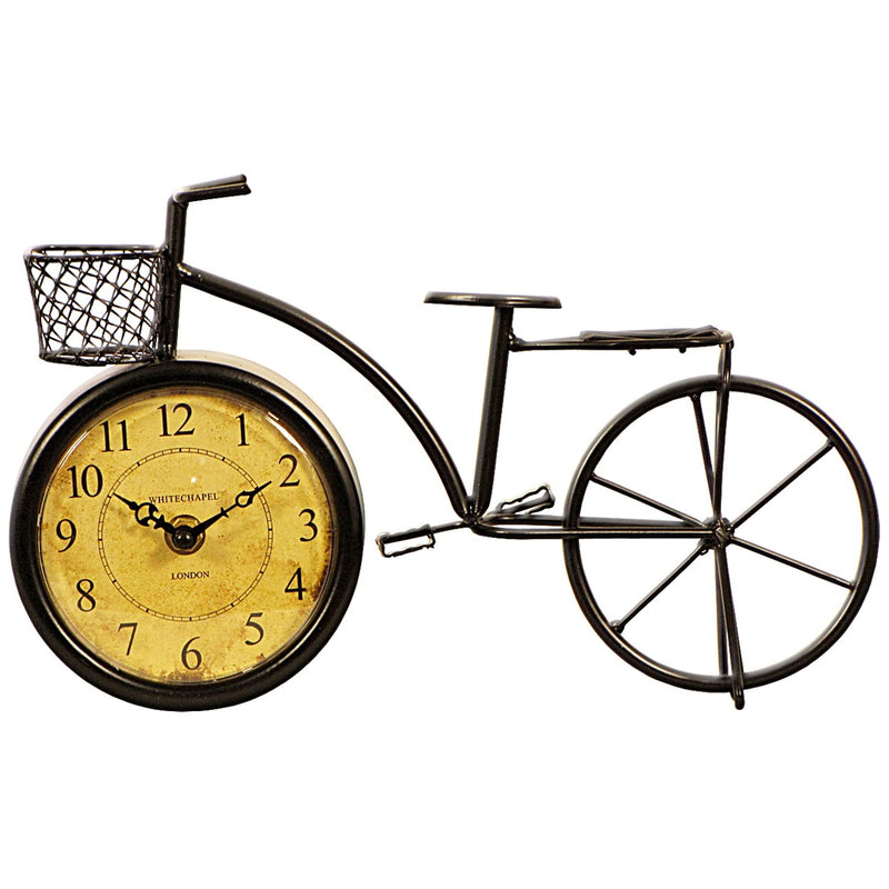 Bicycle Table Clock Black