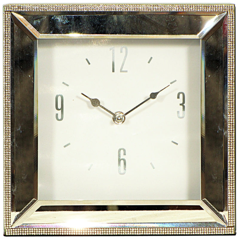 Mirrored Mantle Clock Lge.