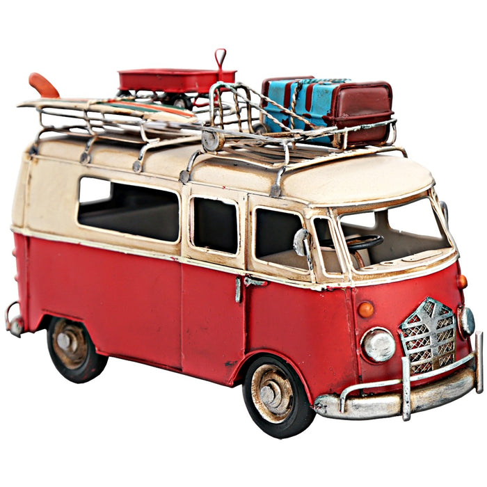 Classic Camper Van with Luggage Rack Ornament
