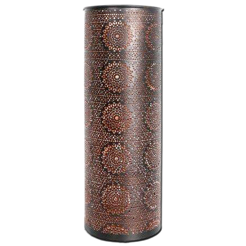 Copper/Black Tealite Cylinder Holder