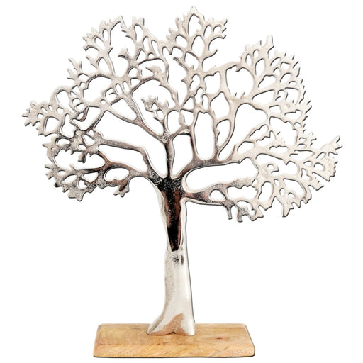 Aluminium Tree on Wood Base