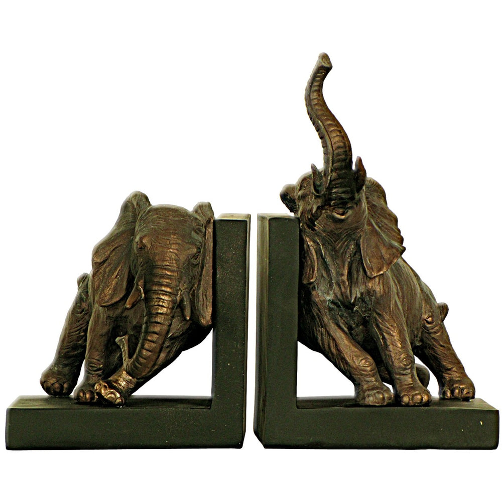 Bronze Elephant Bookends (Pair)
