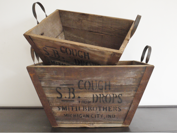 Cough Drop Crates - Set Of 2