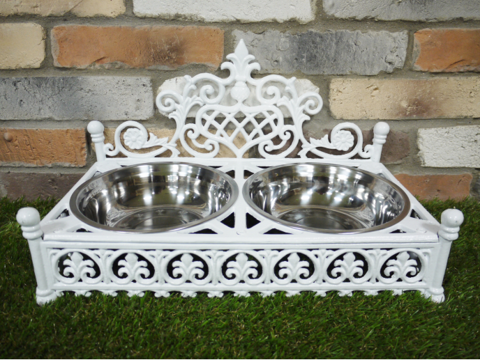 Dog Dish - White