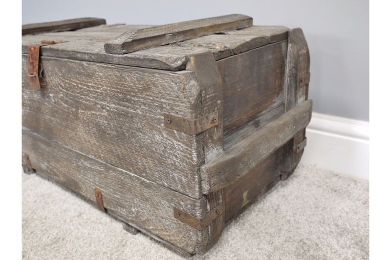 Set of 2 Rustic Wooden Chests