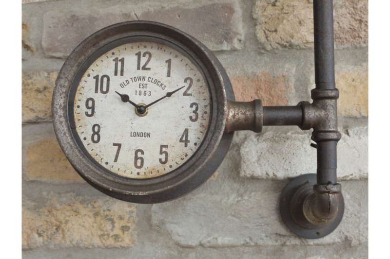 Industrial Pipe Clock