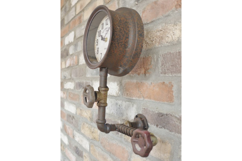 Single Industrial Pipe Clock