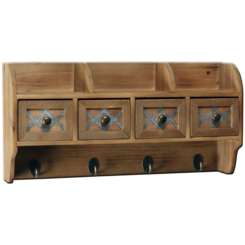 Heartwood Wall Cabinet w. Drawers & Cubbies