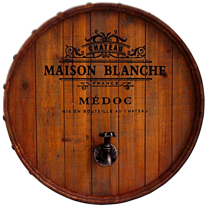 Wine Barrel Wall Plaque w. Tap