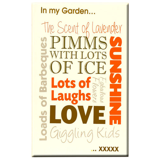 Pimms Wooden Garden Plaque