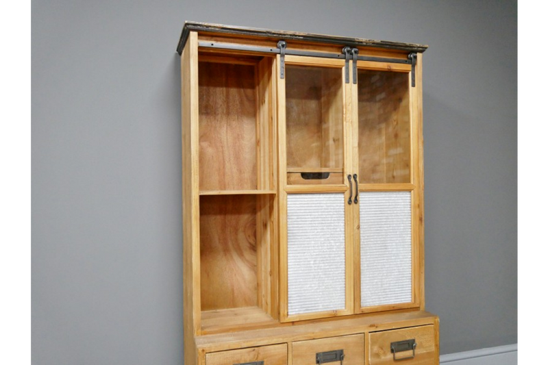 Wooden Industrial Display Cabinet