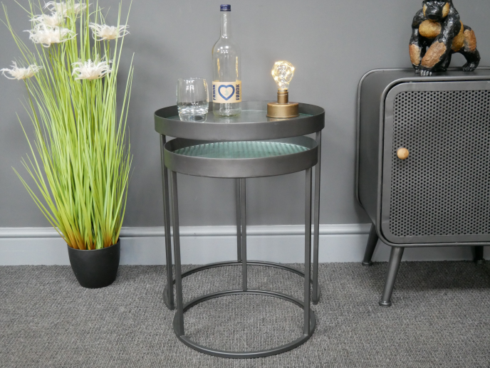 Set Of 2 Industrial Side Tables