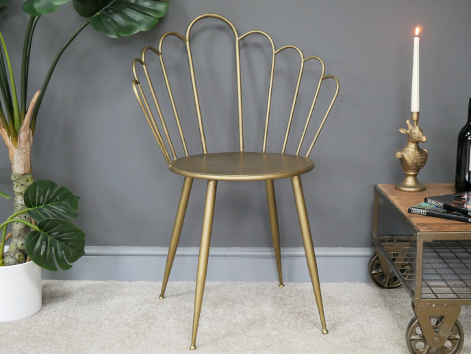 Gold Fan Chair
