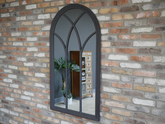 Dark Grey Arch Mirror