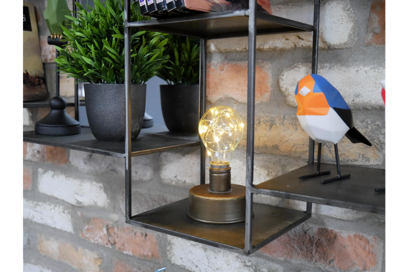 Industrial Wall Unit With Mirrors