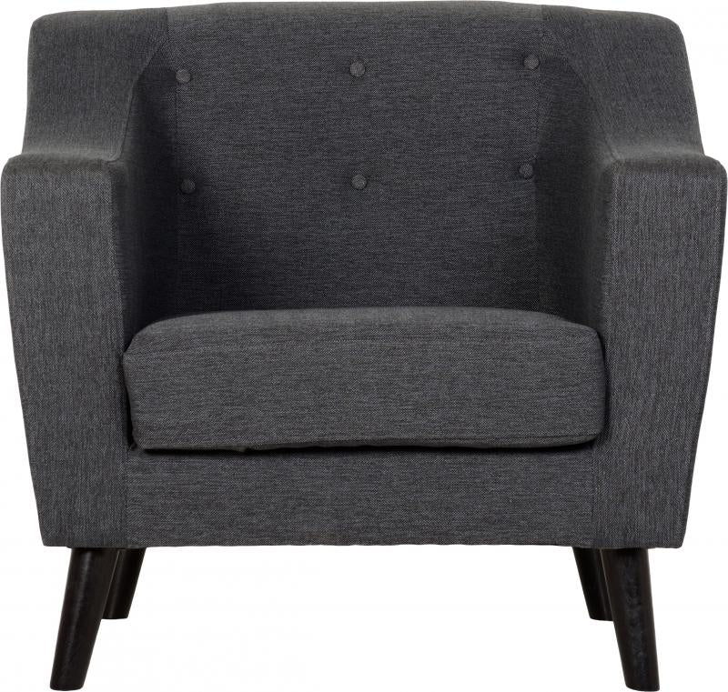 Ashley Chair in Dark Grey Fabric
