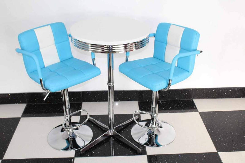 Retro Blue Bistro Dining Set