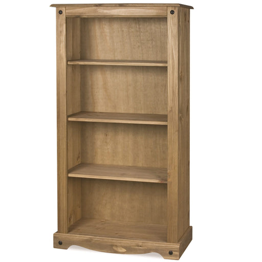 Bella 3 Shelf Bookcase – (Waxed Pine}