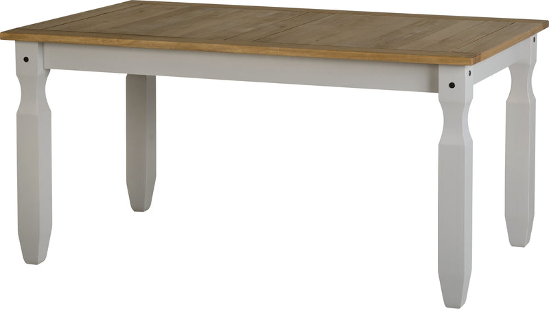 Corona 5' Dining Table in Grey/Distressed Waxed Pine