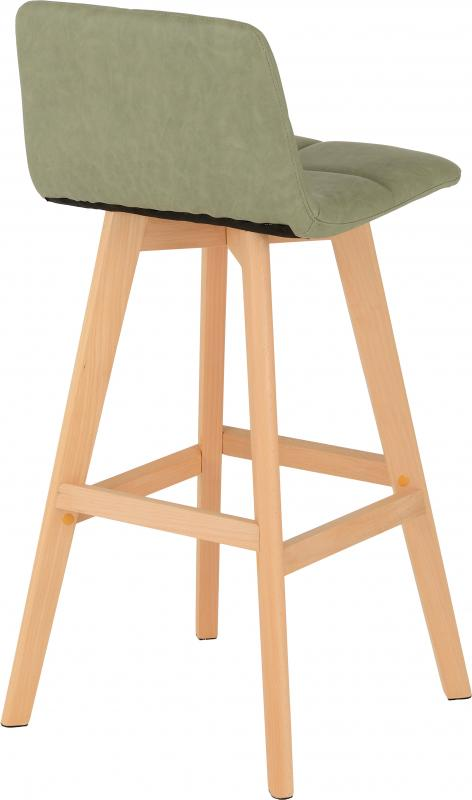 Darwin Bar Chair (PAIR) in Green Faux Leather