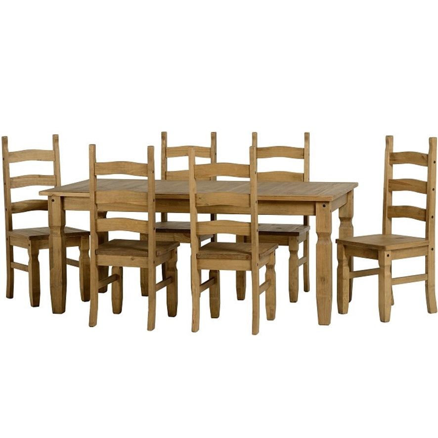 Bella 6 Dining Set – Waxed Pine