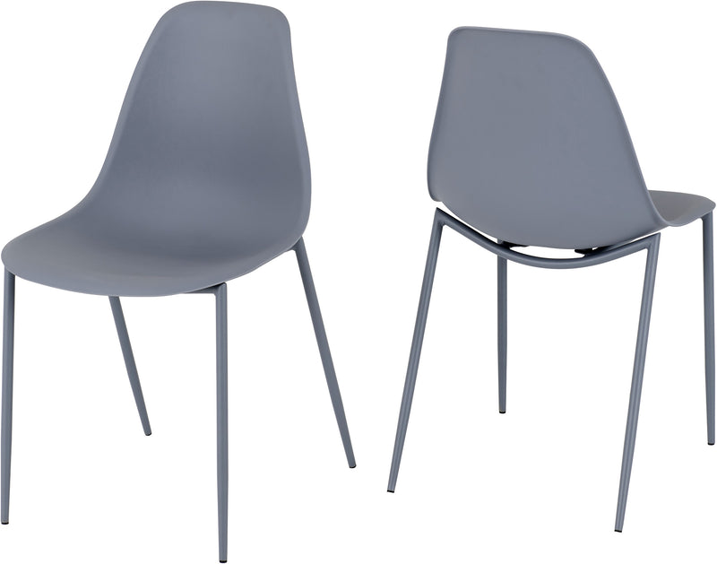 Lindon Chair in Grey (Pair)