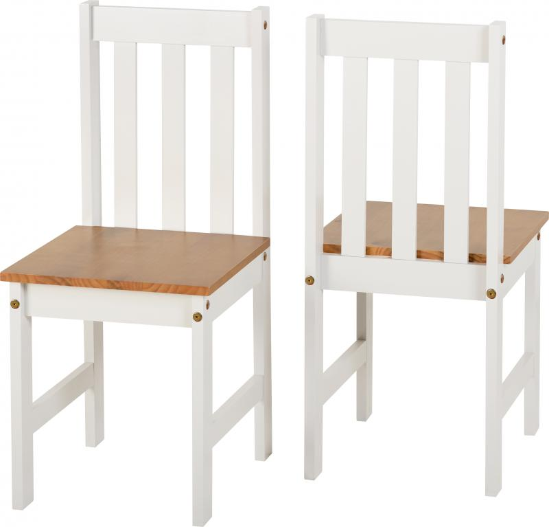 Ludlow 1+2 Dining Set in White/Oak Lacquer