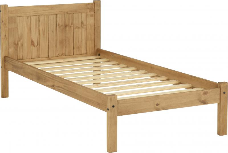 Maya 3' Bed in Distressed Waxed Pine